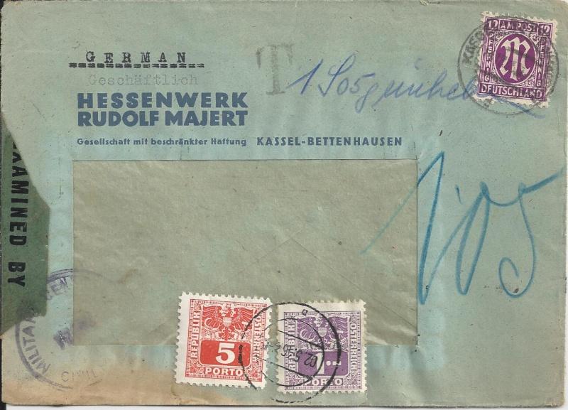 Deutsches Reich - Belege aus Dezember 1945  Bild29