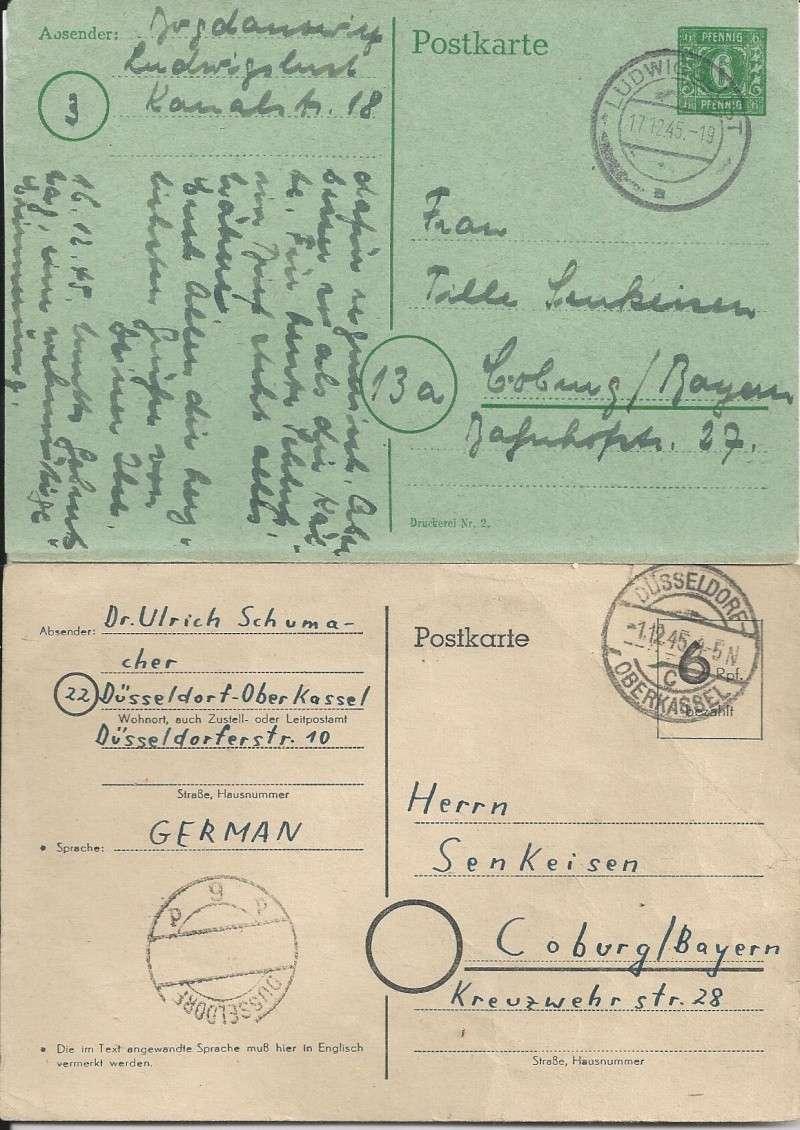 Deutsches Reich - Belege aus Dezember 1945  Bild30