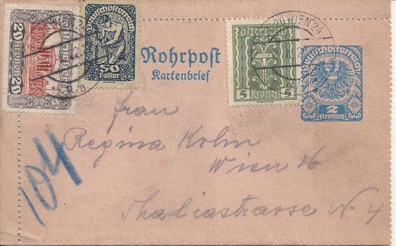 Österreichische Rohrpost der 1. Republik Bild65