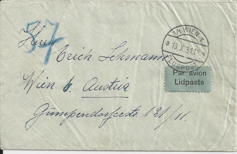 Österreichische Rohrpost der 1. Republik Bild66
