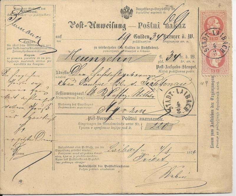 Freimarken-Ausgabe 1867 : Kopfbildnis Kaiser Franz Joseph I - Seite 4 Bild71