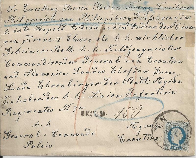 Freimarken-Ausgabe 1867 : Kopfbildnis Kaiser Franz Joseph I - Seite 4 Bild72