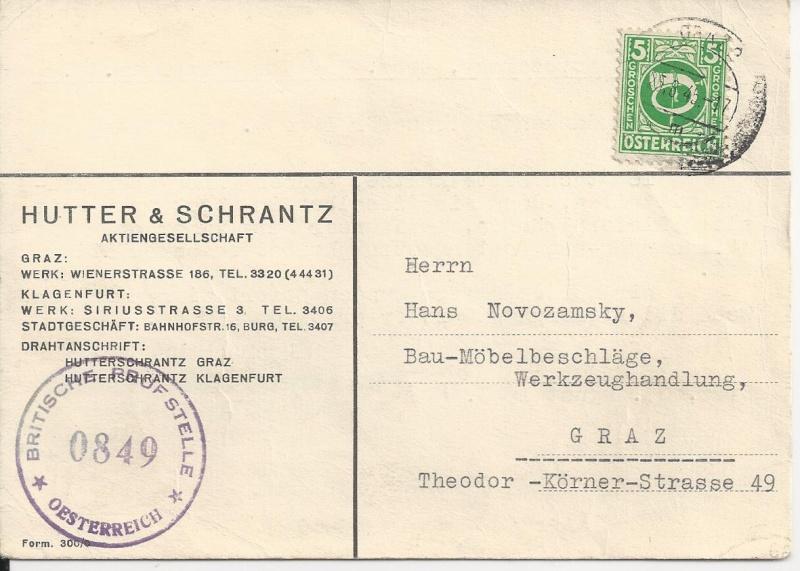 Posthornzeichnung  -  ANK 697-713  -  Belege Bild95