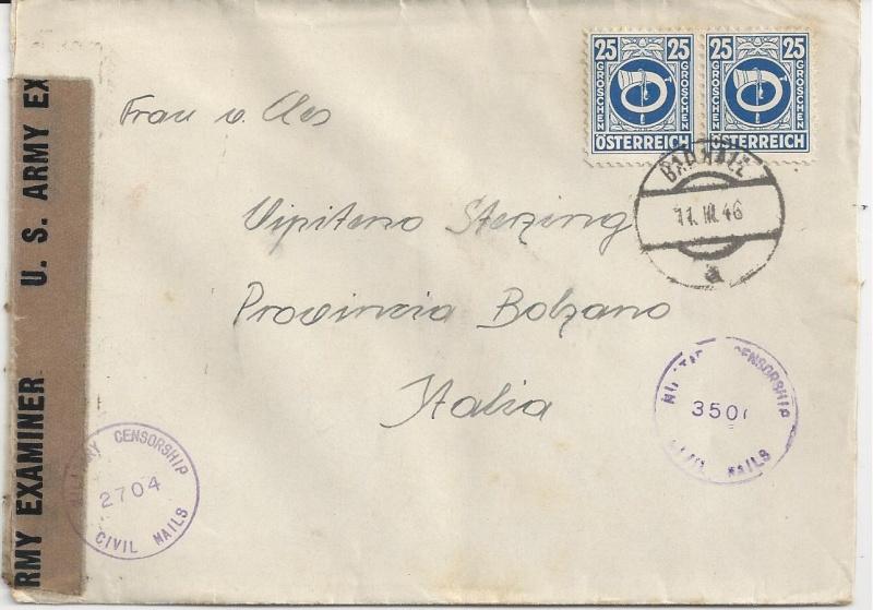 Posthornzeichnung  -  ANK 697-713  -  Belege Bild_113