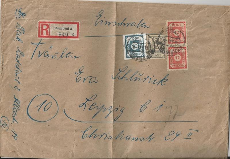 Deutsches Reich - Belege aus Dezember 1945  Bild_219