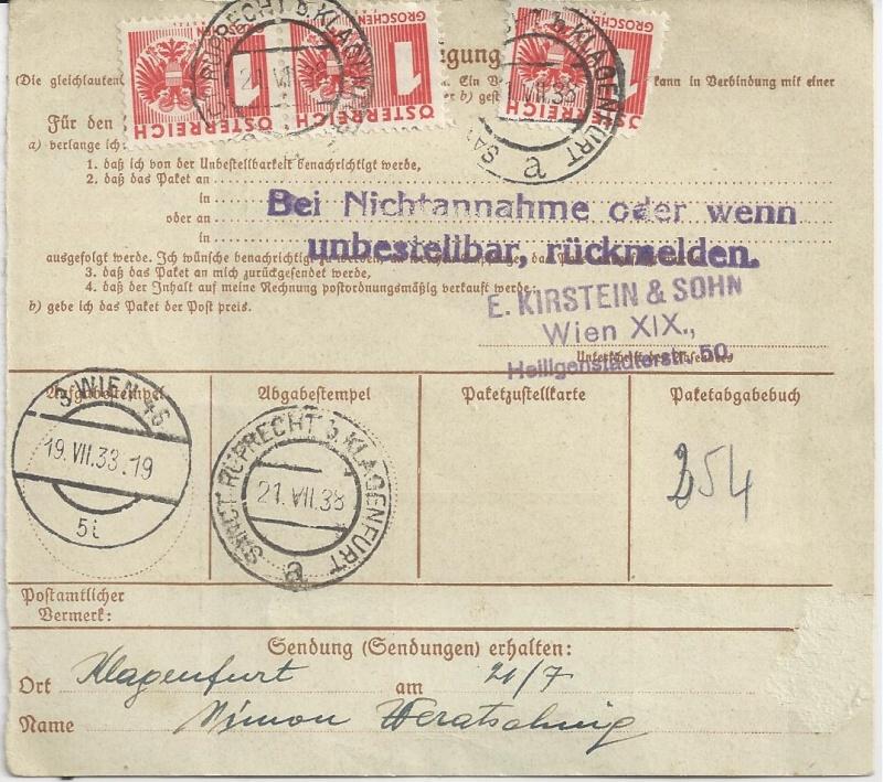 Österreich im III. Reich (Ostmark) Belege Bild_258