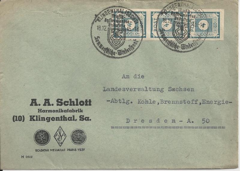 Deutsches Reich - Belege aus Dezember 1945  Bild_312