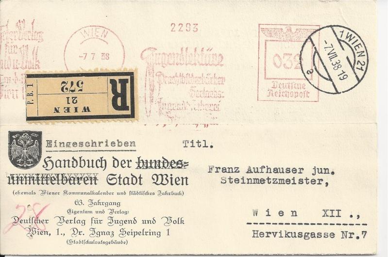 Österreich im III. Reich (Ostmark) Belege Bild_610