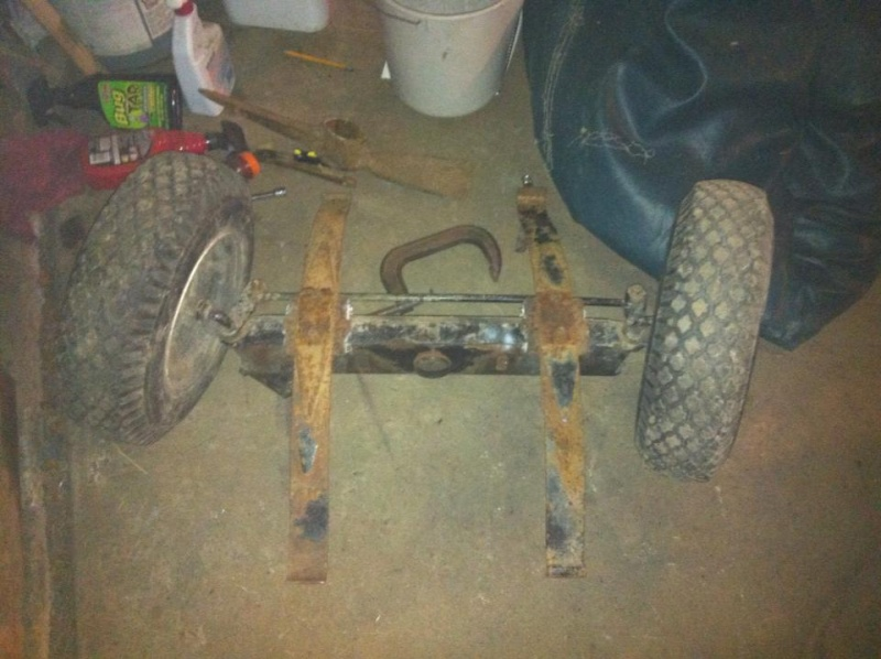Leaf springs on front mower axle conversion: How to! 11508910