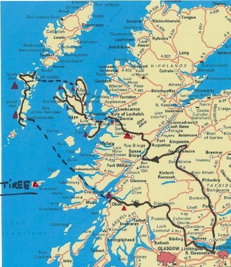 Ecosse Hebrides Uist et Isle de Skye Carte11