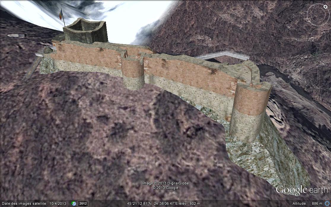 Les châteaux de Dracula repérés dans Google Earth Chat_d11