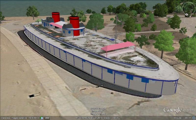 Bâtiment en forme de bateau - Chicago - USA Gggggg16