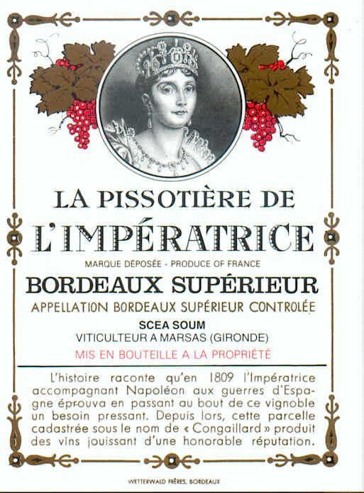 """La """"Pissotière de l'Impératrice"""" - Marsas - Gironde - France Impera10"""