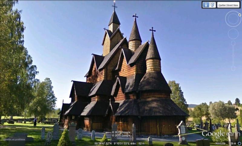Stavkirke de Heddal (église en bois debout) - Telemark - Notodden - Norvège Mqlru10