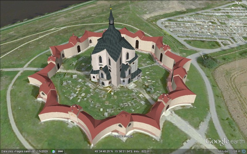 Eglise Zelená hora (une étoile tombée du ciel) - Bohème - République tchèque Rthtut10