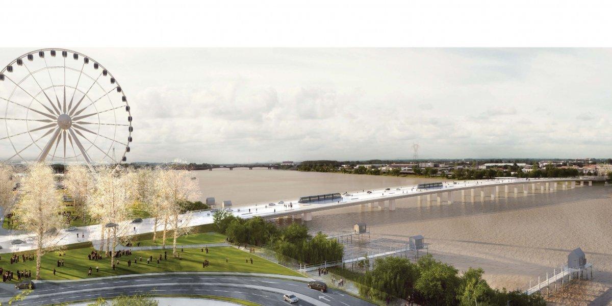 ( Bientot visible sur Google Earth ) Pont Simone Veil Bordeaux France Vue-de10