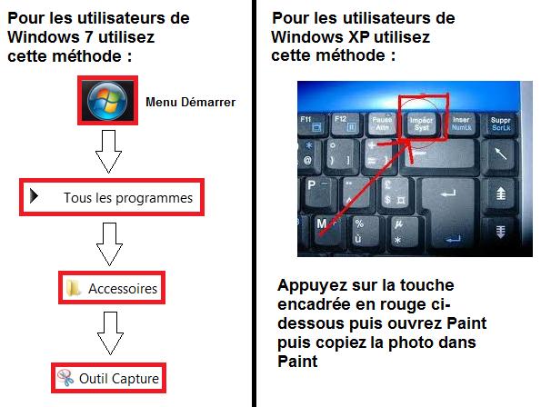 """Tutoriel pour faire des """"screens""""  Tuto_f10"""