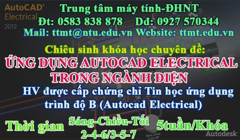 CHUYÊN ĐỀ: ỨNG DỤNG AUTOCAD ELECTRICAL TRONG NGÀNH ĐIỆN Autoca10