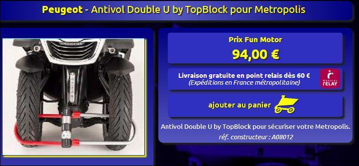 Accessoires et équipements du Metropolis Double10