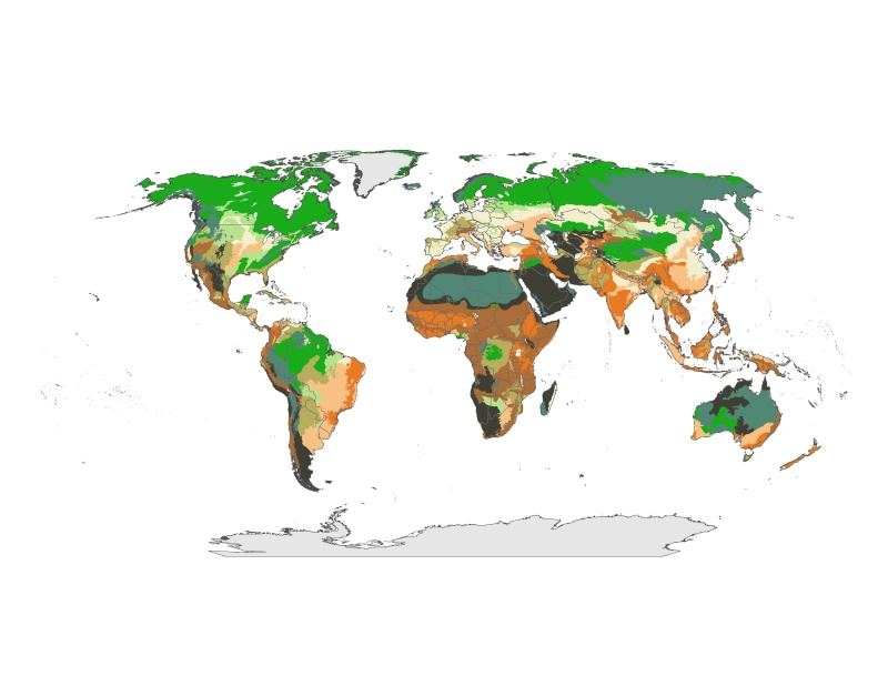 Future Droughts - Woldwide Famine By 2039! Map_cl11
