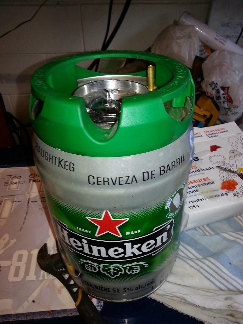 Heineken Mini Keg Fuel Tank 20140315