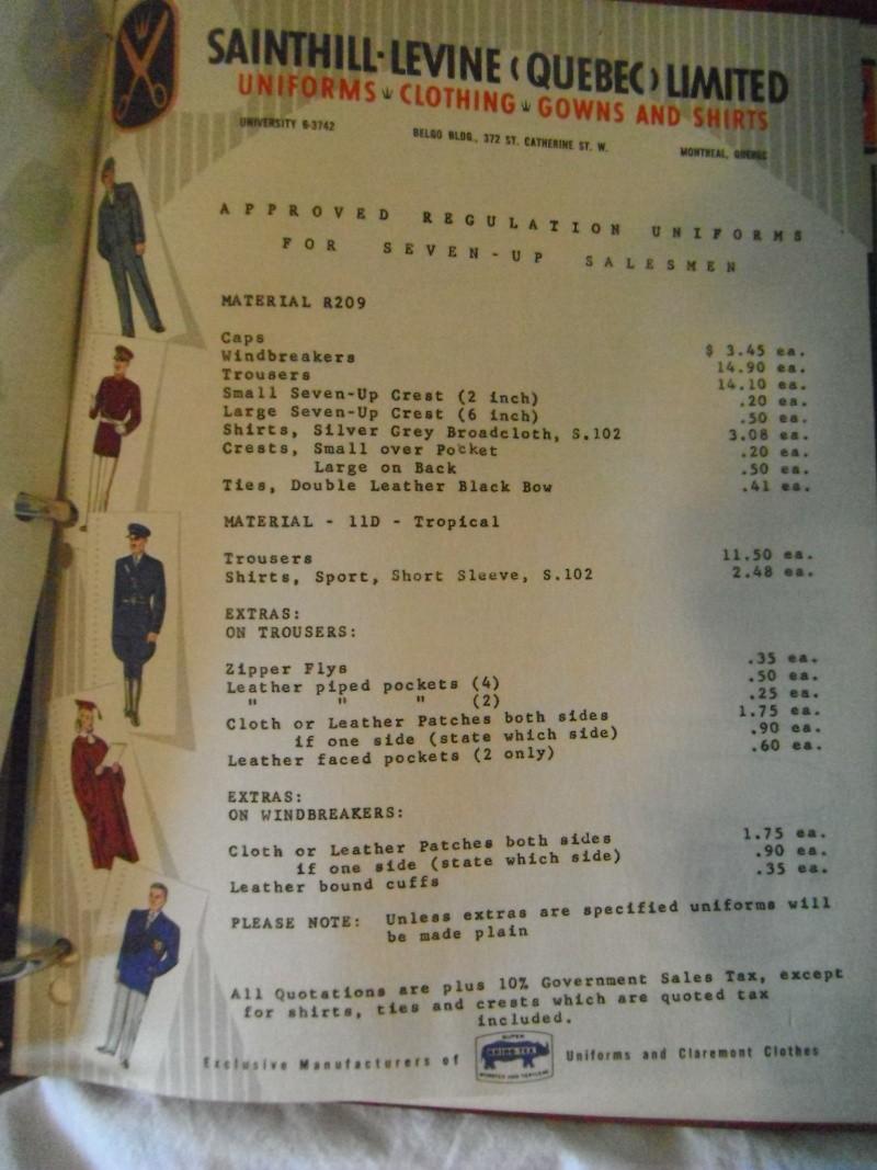 cataloge du parfait représentant 7up 1950-1960 03610
