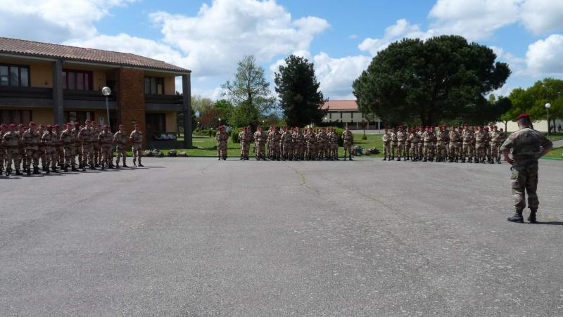 1er RCP Pamiers. Le second contingent est rentré hier du Mali P1040420