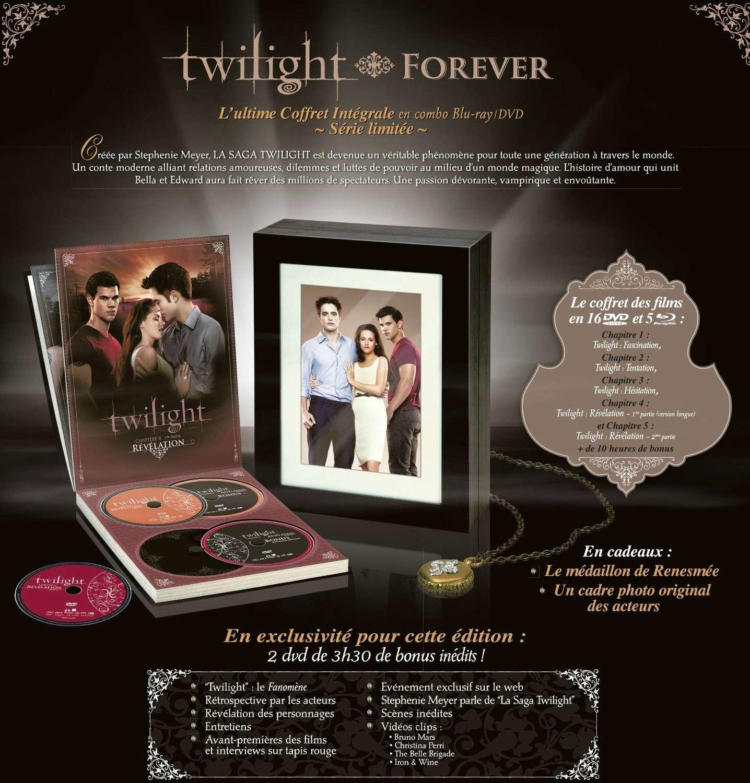 [Coffret DVD] Twilight Forever : coffret intégrale (série limitée) 91527610