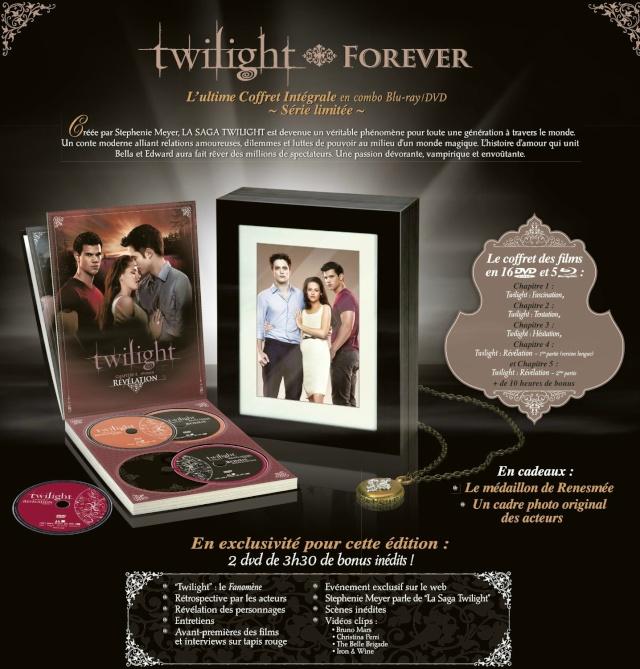 [Coffret DVD] Twilight Forever : coffret intégrale (série limitée) 91527611