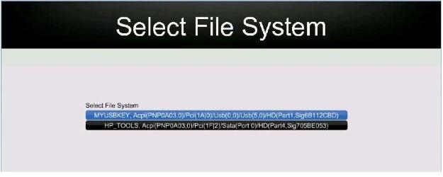 logo personnalisé boot Hp probook Select10
