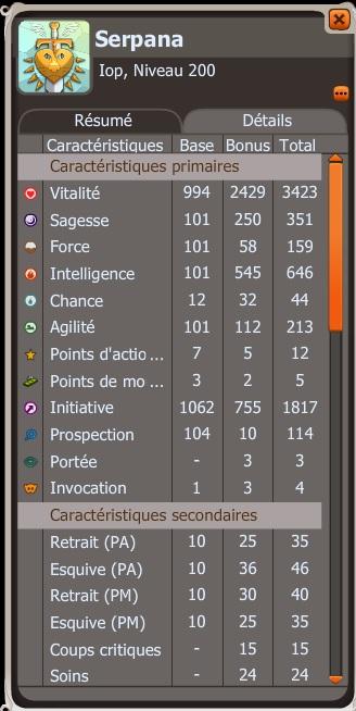 Serpana - Iopette niv. 200 Stats10