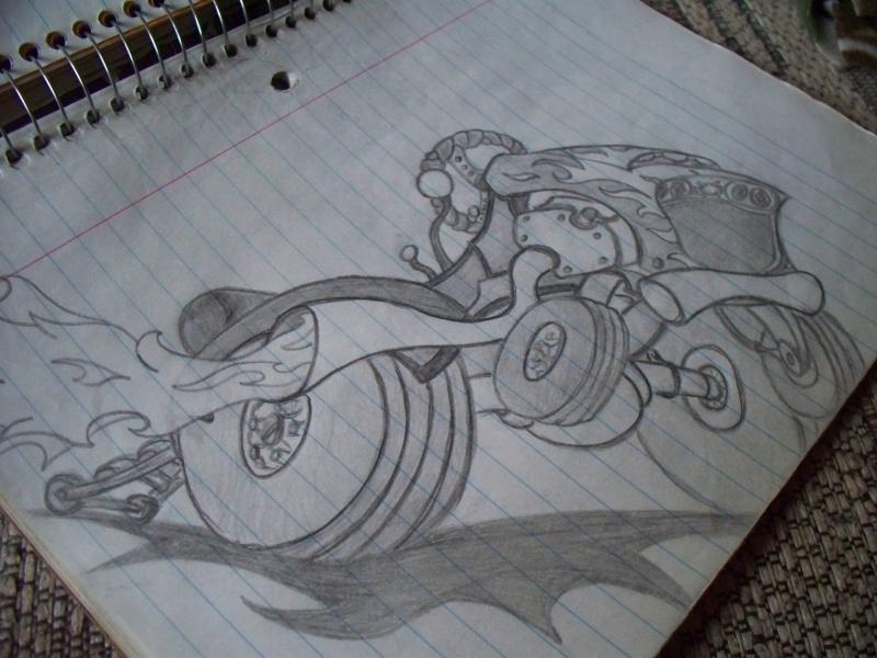 Offroad lawnmower doodle. 12_00110