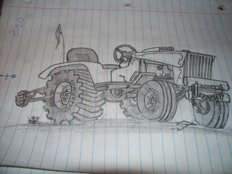 Offroad lawnmower doodle. Stuff210