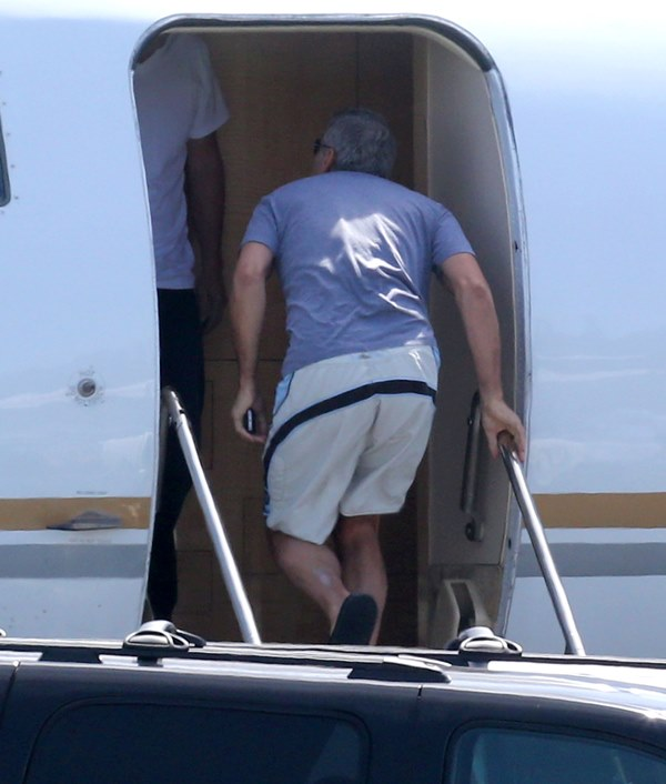 George Clooney and Amal leaving LA Air1010