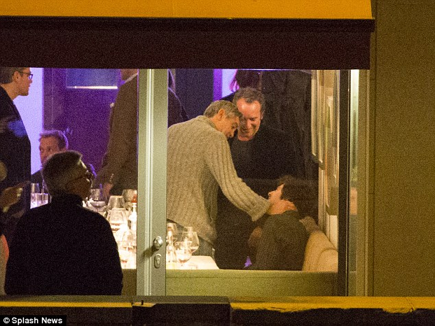 George Clooney at dinner at Grill Royal B110