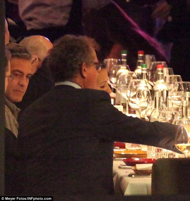 George Clooney at dinner at Grill Royal Berlin14