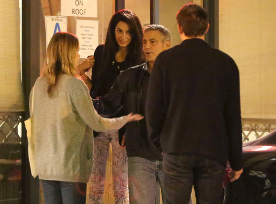 George Clooney and Amal Alamuddin on Double Date Caa510