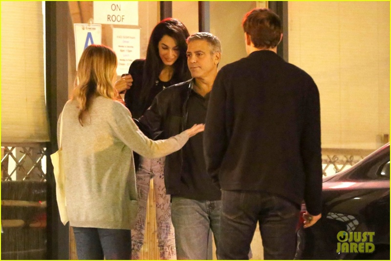 George Clooney and Amal Alamuddin on Double Date Ccc110