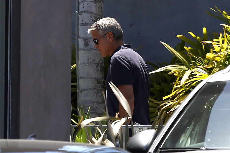 George Clooney & Amal Alamuddin Celebrate Their Engagement Surrounded By Celebrity Friends! Done810