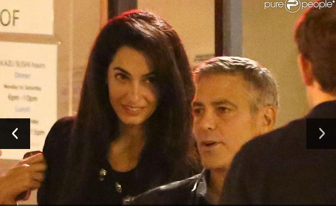 George Clooney and Amal Alamuddin on Double Date Fff10