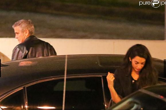 George Clooney and Amal Alamuddin on Double Date Fff110