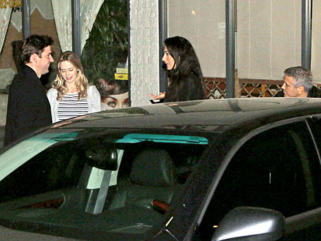 George Clooney and Amal Alamuddin on Double Date Fff310