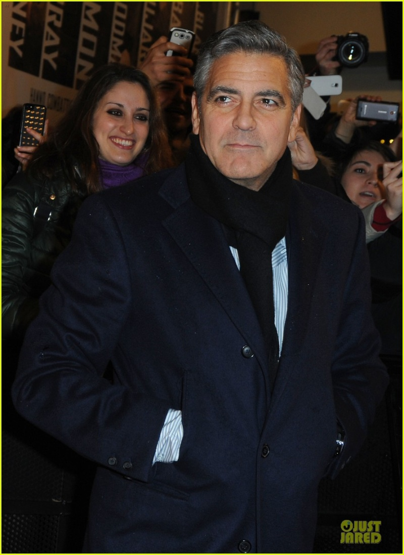 George Clooney at the Monuments Men Red Carpet Premiere - Milan  Gg217