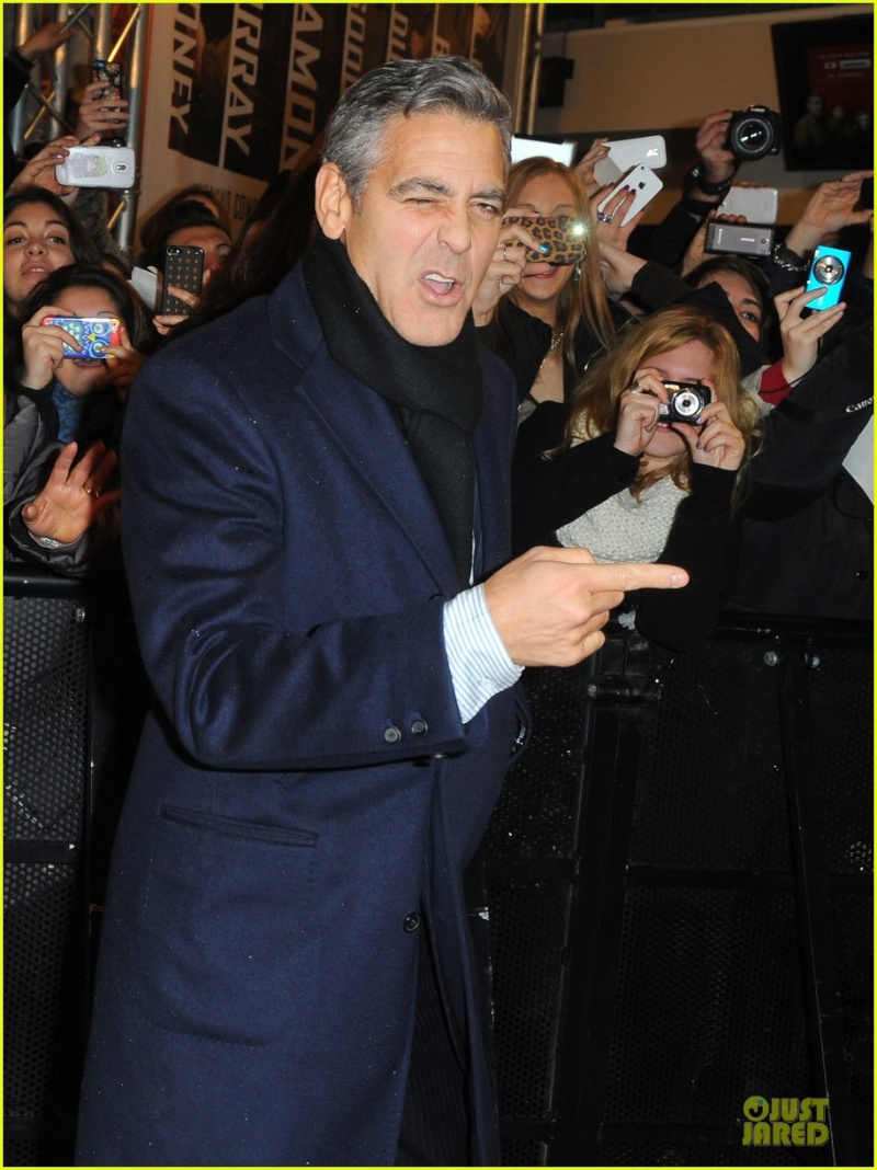 George Clooney at the Monuments Men Red Carpet Premiere - Milan  Gg30