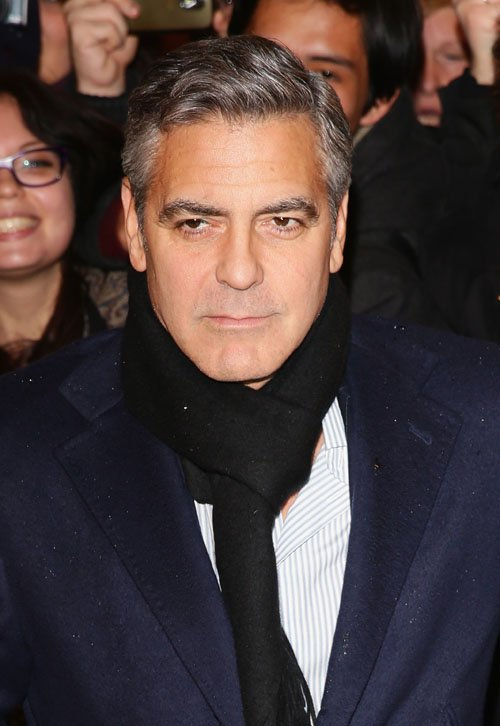 George Clooney at the Monuments Men Red Carpet Premiere - Milan  Ggg213