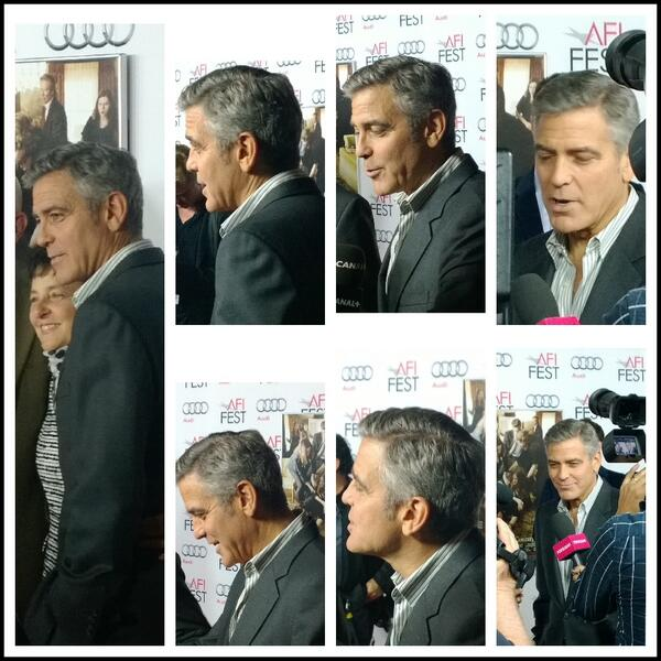 George Clooney at the AFI film fest, 8 Nov 2013, at a screening of August Osage County Ggg310