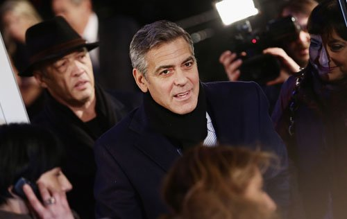 George Clooney at the Monuments Men Red Carpet Premiere - Milan  Ggg411