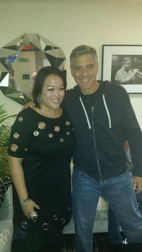George Clooney spotted at Abbey Rd recording studios, London, with London Symphony Orchestra Gggg10