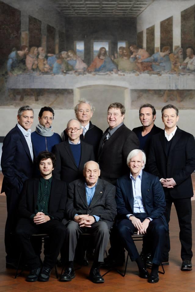 Monuments Men cast visit Da Vinci's Last Supper in Milan. It211