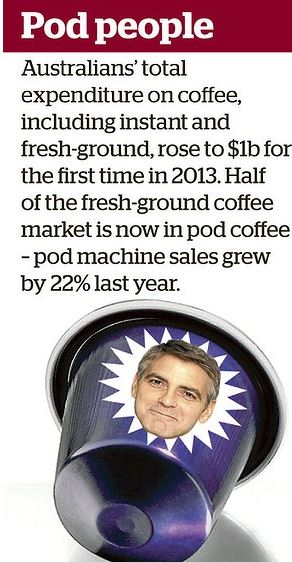 Recycling issue brewing in George Clooney's Nespresso campaign Koffee10